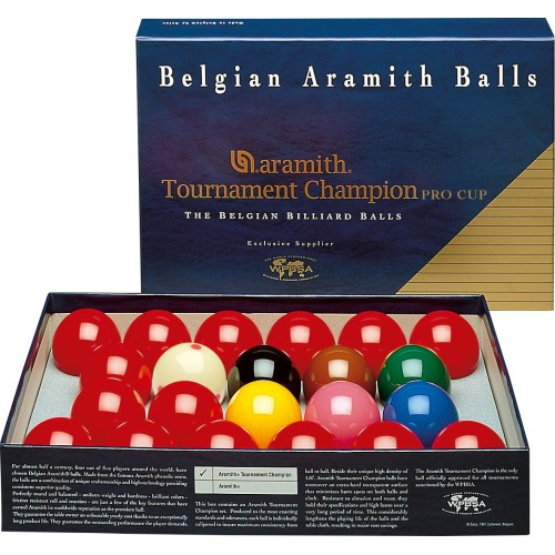 Aramith Tournament Snooker Set with Pro Cup Cue Ball BBAEPC