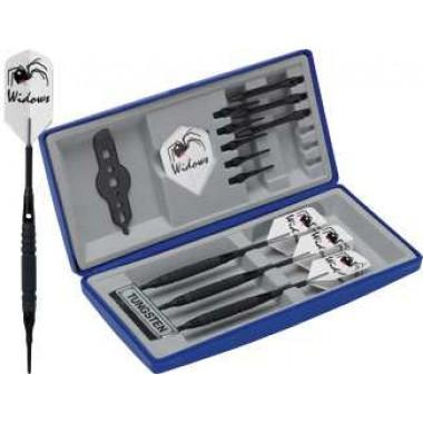 Black Widow Dart Set - Soft Knurled soft tip darts