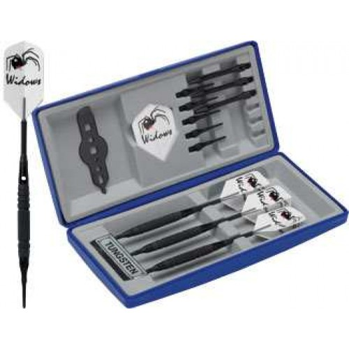 Black Widow Dart Set - Soft Knurled soft tip darts DRTBWS