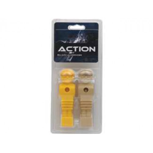 Foosball - Brown/ Yellow Men Blister Pack FBMBY
