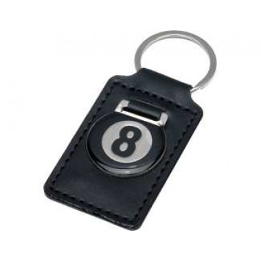 8-Ball Leather Key Chain