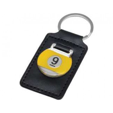 9-Ball Leather Key Chain