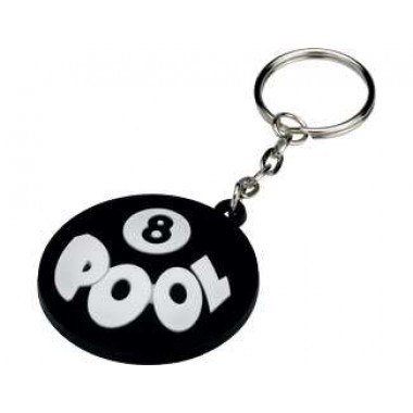 Key Chain - Rubber 8 Pool
