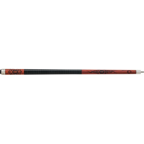 Outlaw - 20 - Cherry 8-Ball w/ Tribal Flames Pool Cue OL20