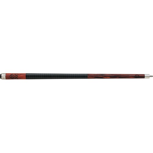 Outlaw - 21 - Cherry 8-Ball w/ Flames Pool Cue OL21