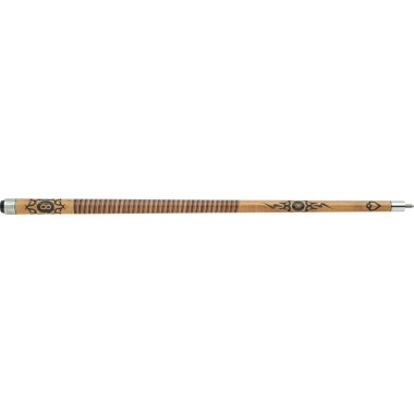 Outlaw - 29 Original - 8-ball Tribal Flames - Two-Toned Wrap Pool Cue