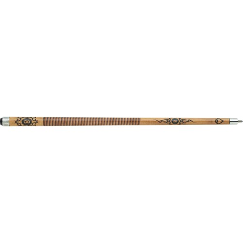 Outlaw - 29 Original - 8-ball Tribal Flames - Two-Toned Wrap Pool Cue OL29