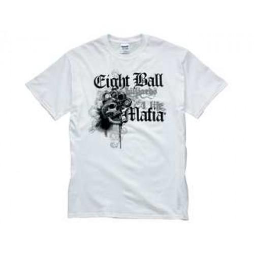 White Eight Ball Mafia T-Shirt TSEBM03