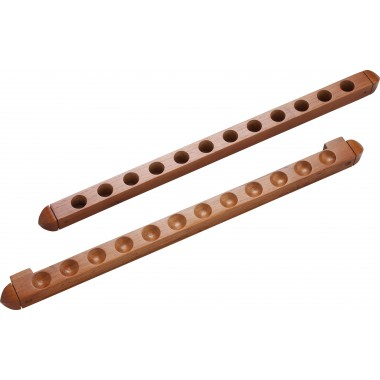 12 Cue Wall Rack/2 pc Holes