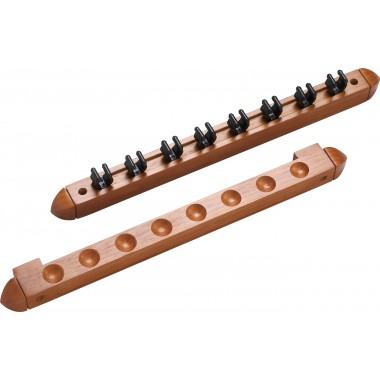 8 Cue Wall Rack/2 pc Clips