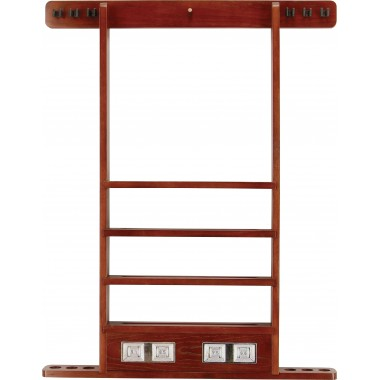 Wall Rack - 6 Cue w/ Score Counter