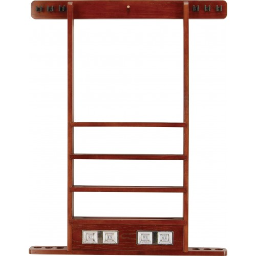 Wall Rack - 6 Cue w/ Score Counter WRSC